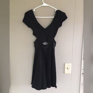 Black Party Dress with Cut Out
